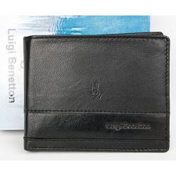 Černá kožená peněženka Luigi Benetton