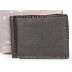 Kožená peněženka - dolarka z měkké hnědé kůže