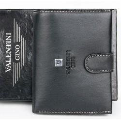Kožená černá peněženka Valentini Gino