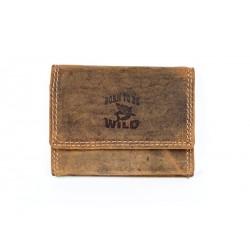 Pánská kožená velmi malá kapesní peněženka se žralokem