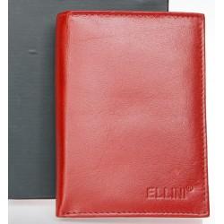 Tmavě cihlově červená kožená pánská peněženka Ellini
