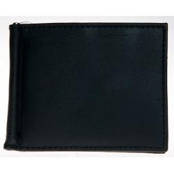 Černá kožená peněženka - dolarka s kapsičkou