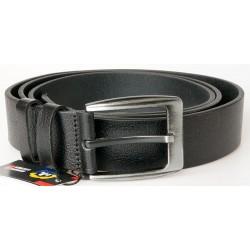 Pánský černý kožený opasek šířka 37 mm, délka 120 cm