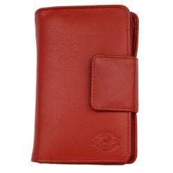 Kvalitní červená dámská kožená peněženka z jemné pravé kůže