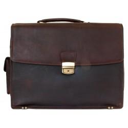 Velká kožená pánská taška z pevné kůže s popruhem přes rameno na cesty i do práce