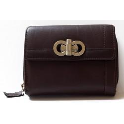 Tmavě hnědá kožená peněženka HMT