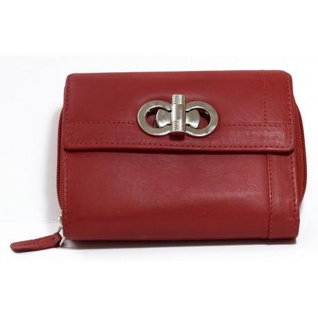 Červená kvalitní kožená peněženka HMT