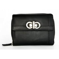 Černá kožená peněženka HMT