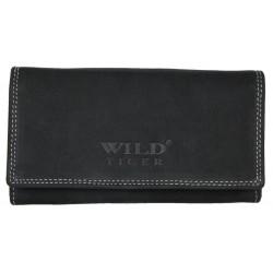 Dámská tmavě šedá peněženka Wild Tiger z bytelné přírodní kůže