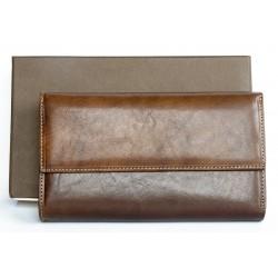 Italská velmi kvalitní velká pevná kožená peněženka Giglio Fiorentino