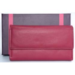 Italská velmi kvalitní velká růžová kožená peněženka Giglio Fiorentino
