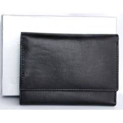 Černá klasická peněženka z pevné pravé kůže
