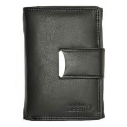 Černá praktická kožená peněženka Roberto s dvěma kapsičkami