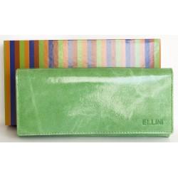 Bledě zelená kožená fóliovaná odolná peněženka Ellini