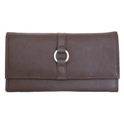 Hnědá velmi kvalitní kožená peněženka HMT