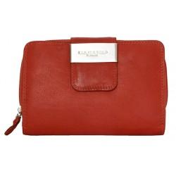 Červená prostorná kožená peněženka Kabana