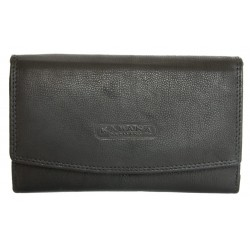 Černá kožená peněženka orientovaná jako oboustranná