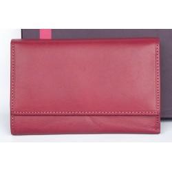 Italská velmi kvalitní růžová kožená peněženka Il Giglio
