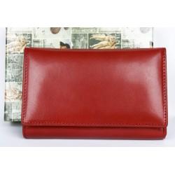 Červená italská peněženka z pevné pravé kůže