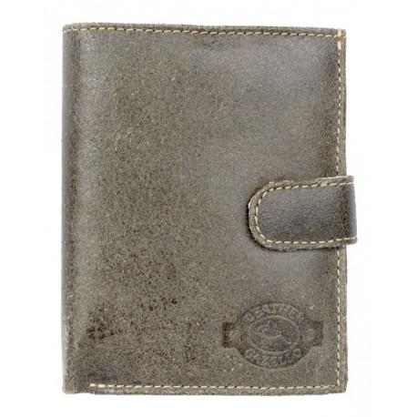 Khaki kvalitní kožená peněženka Gazello