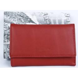 Červená kožená peněženka Barberini's z kvalitní příjemné kůže