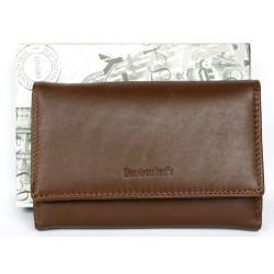 Hnědá kožená peněženka Barberini's z kvalitní příjemné kůže