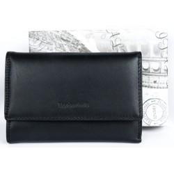 Černá kožená peněženka Barberini's z kvalitní příjemné kůže