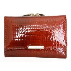 Luxusní malá červená kožená fóliovaná peněženka Jennifer Jones