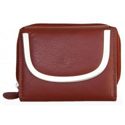 Tmavě červená kvalitní kožená peněženka Kabana