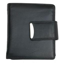 Kvalitní široká a prostorná kožená peněženka HMT