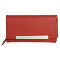 Červená kožená peněženka Roberto