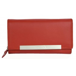 Červená kožená peněženka Roberto. Rozměr 17,5 x 10 cm