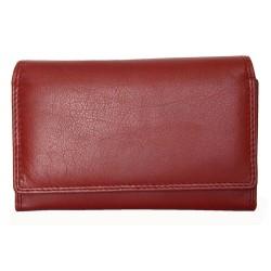 Luxusní tmavě červená kožená peněženka HMT