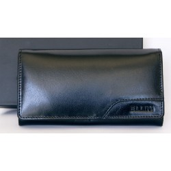 Černá peněženka Ellini z pevné kůže dodávaná v krabičce