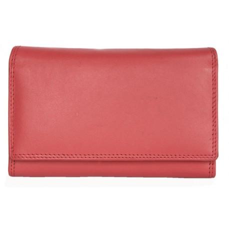 Luxusní jasně růžová kožená peněženka HMT