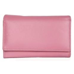 Luxusní jemně růžová kožená peněženka HMT