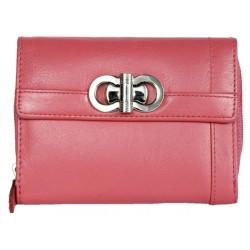 Růžová kvalitní kožená peněženka HMT