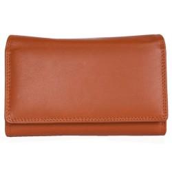 Luxusní oranžová kožená peněženka HMT
