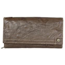 Dámská celokožená peněženka Green Valley z hlazené tmavě hnědé přírodní kůže