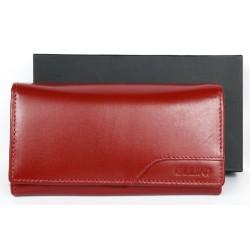 Kožená červená peněženka Ellini