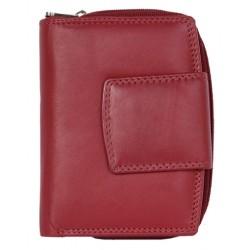 Červená dámská kožená peněženka bez značek a nápisů
