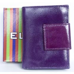 Kožená fialová, leskle fóliovaná peněženka Ellini