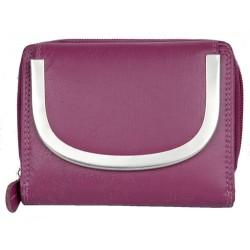 Růžová kvalitní kožená peněženka Kabana