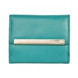 Tyrkysová kvalitní kožená peněženka HMT kompaktní velikosti