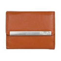 Oranžová kvalitní kožená peněženka HMT kompaktní velikosti