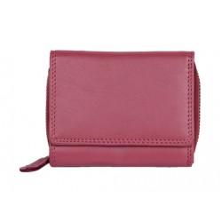 Růžová kvalitní kožená peněženka HMT kompaktní velikosti