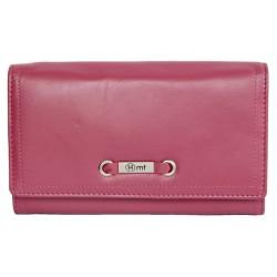 Růžová velmi příjemná kvalitní kožená peněženka HMT
