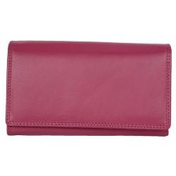 Klasická růžová kvalitní kožená peněženka HMT