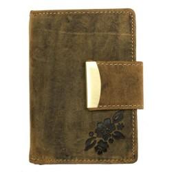 Kožená peněženka Born to be wild z přírodní kůže