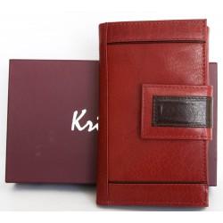 Tmavě organicky červenohnědá kožená peněženka Kristy.X